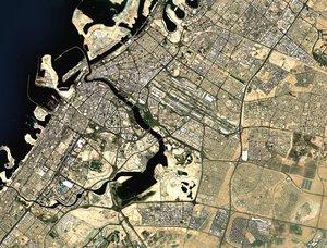 3D cityscape dubai city