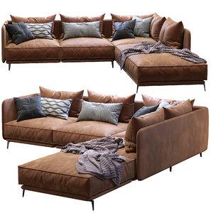 sofa k2 arflex 3D model