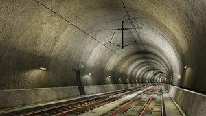 tileable railway tunnel 3D
