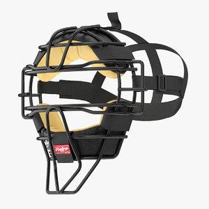 3D model mask baseball catcher