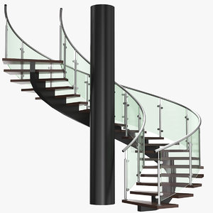 3D real spiral stair