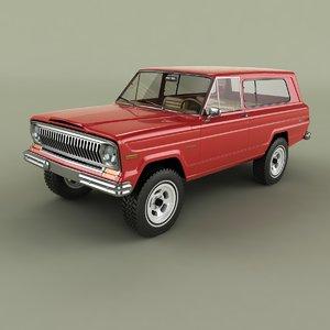 jeep cherokee wagoneer wrangler 3D model