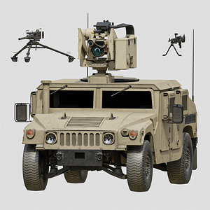 3D humvee crows