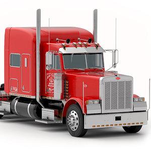 3D 379 interior truck model