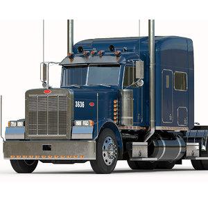 3D truck interior model