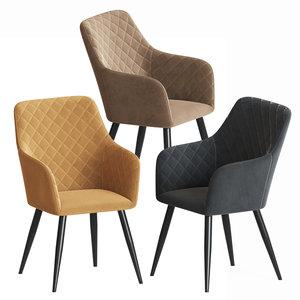 3D model gravelle studio armchair