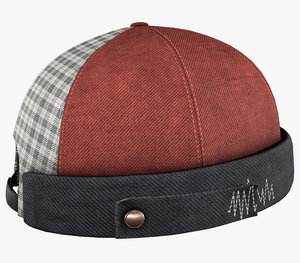 red jeans brimless cap model