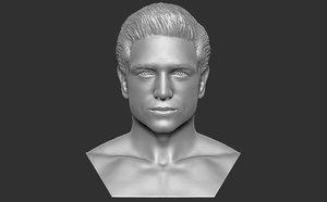 3D model bust man printing