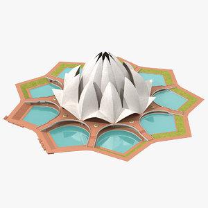 3D model temple building