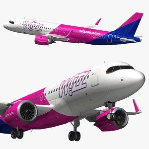 3D airbus a320 wizz air
