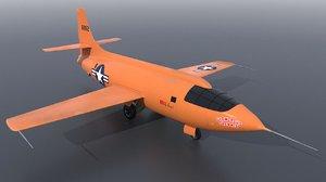bell x-1 aircraft 3D model
