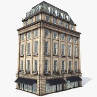 London Building, 8K PBR, Modular, Shop and Apartment