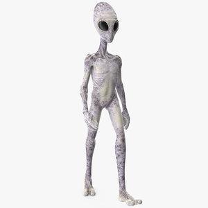 humanoid alien walking pose 3D model