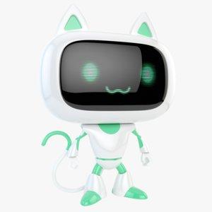 3D robot cat