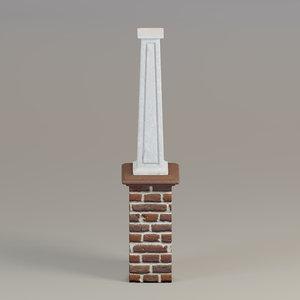 3D column tapered square model