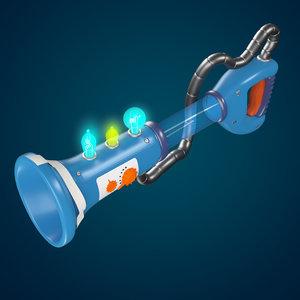 3D model cartoon gun
