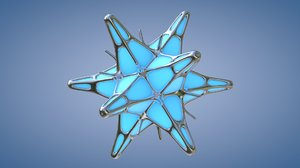 3D extruded platonic crystal model