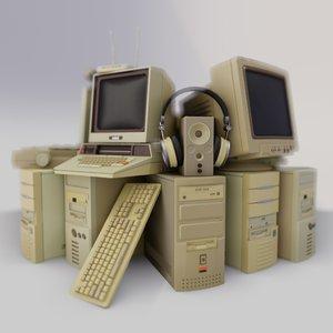 retro monitors blocks model