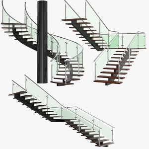 real stairs 3D model