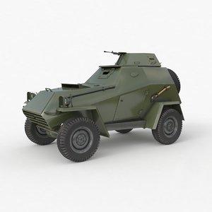 ba 64 soviet army vehicle 3D model