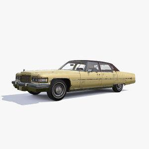 3D 1976 cadillac fleetwood