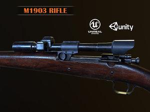 3D springfield m1903 sniper rifle model