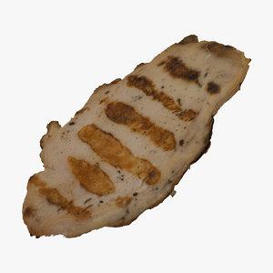 grilled chicken fillet 01 model
