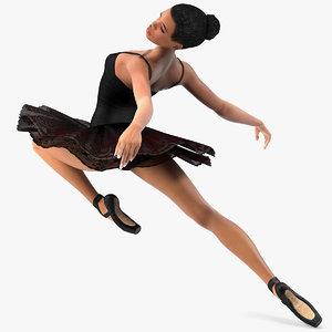 light skinned black ballerina 3D model