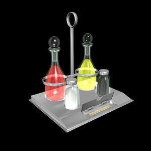 condiment holder 3D model