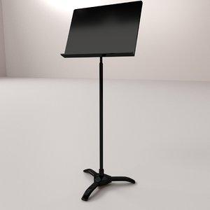 sheet music stand 3D