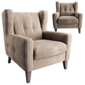 3D armchair chair arno model