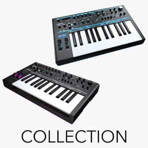 3D novation bass station ii