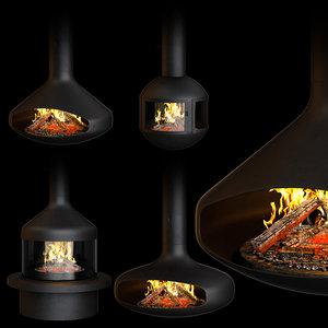 fireplace set focus creation 3D model