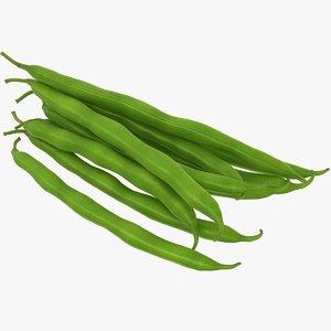 green bean pile 02 3D model