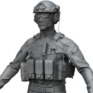 zbrush special force soldier 3D model
