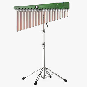 3D chimes percussion instrument stand model