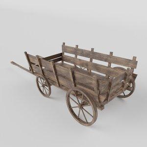 medieval wagon 3D model