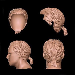 male hair 3D model