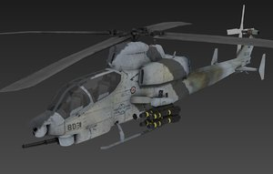 3D helicopter ah-1z