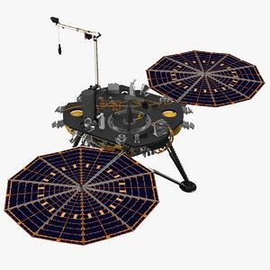 3D insight mars lander