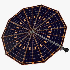 lander solar array 3D model