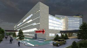 3D hospital modern
