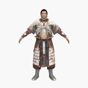 3D kungfu feiyu model