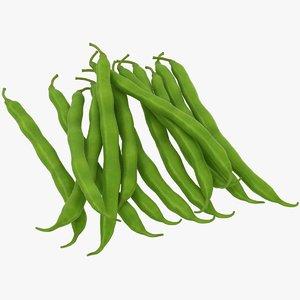 green bean pile 03 3D model