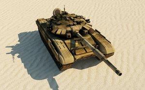 t72 t-72b3 russian tank 3D model