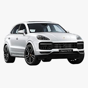 3D 2019 porsche cayenne turbo