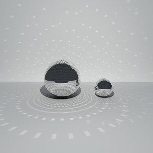 mirror balls light 3D model