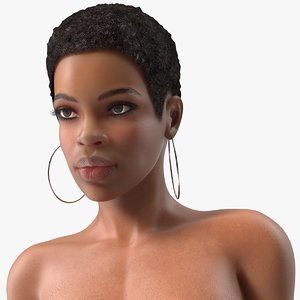 3D model nude light skin black