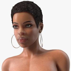 3D model nude light skin black