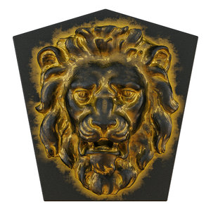 lion head bas-relief 3D model